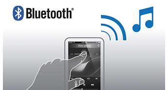 Transmita música via Bluetooth™ de seu smartphone