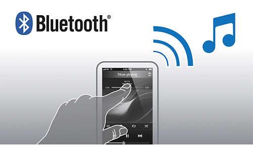 Uw muziek draadloos streamen via Bluetooth™ vanaf uw smartphone