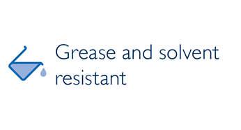 Resistente ai solventi chimici e professionali