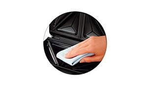Lớp phủ chống dính đặc biệt giúp lau chùi dễ dàng hơn