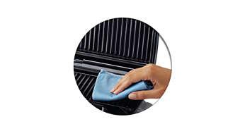 El revestimiento antiadherente especial facilita la limpieza