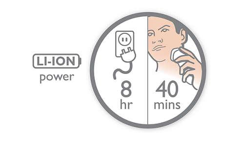 Autonomie de 40min pour 8h de charge