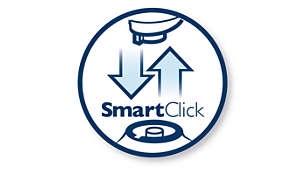SmartClick: simply click on to your Philips brush