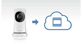 Enregistrement des vidéos sur le cloud lorsqu'un son ou un mouvement est détecté