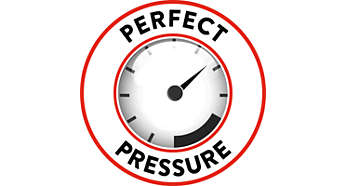 Perfect pressure for full Espresso taste