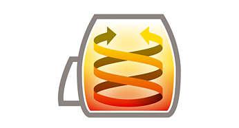 Design exclusif pour de délicieuses fritures, avec jusqu'à 80% de matières grasses en moins