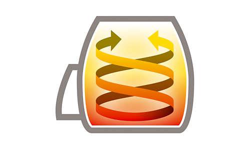 Einzigartiges Design für köstliche Ergebnisse beim Kochen mit wenig Fett