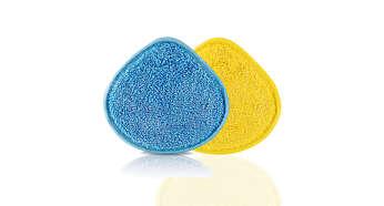 Wasbare en duurzame microvezelpads