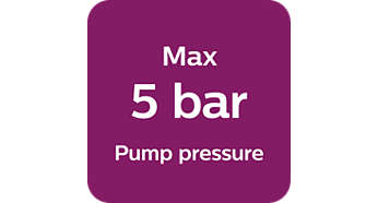 Max. 5 Bar Pumpendruck