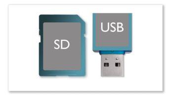 Khe cắm thẻ nhớ USB Direct và SD để phát nhạc MP3