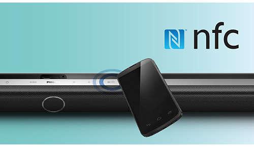 Met één druk op de knop NFC-smartphones via Bluetooth koppelen