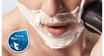 Aquatec: сухое или освежающее влажное бритье с пеной