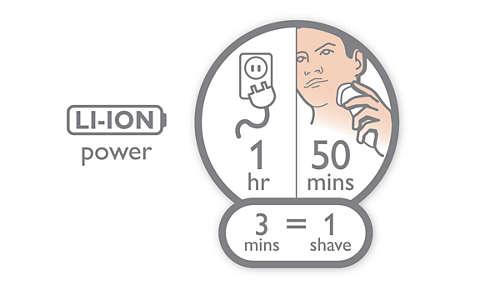 Autonomie de 50minutes pour 1heure de charge