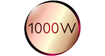 Dryer: gentle drying power of 1000W for beautiful results