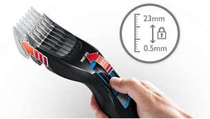 1~23mm まで 12 段階で簡単に長さ調節可能