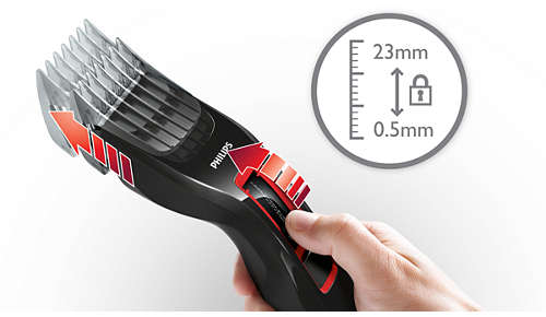 Easy to select and lock in 13 length settings: 0.5 to 23mm