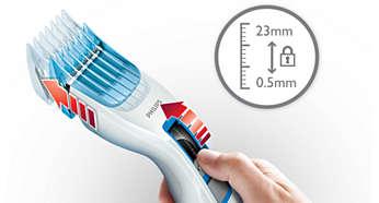 Mudah untuk dipilih dan mengunci setelan 13 panjang: 0,5 sampai 23mm
