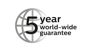 2-year guarantee plus 3 years when you register the product online