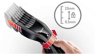 1 ~ 23mm まで 23 段階で簡単に長さ調節可能
