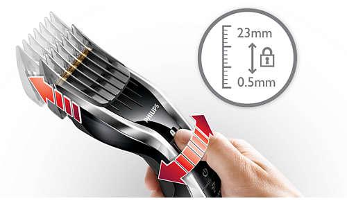 Łatwy wybór długości — 24 ustawienia: od 0,5mm do 23mm
