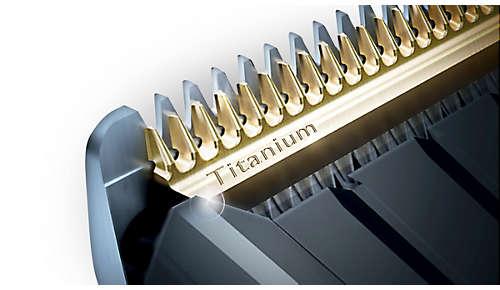 Self-sharpening titanium blades for extra durability