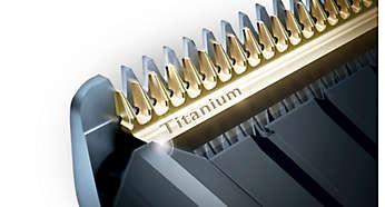 Selbstschärfende Titaniumklingen für extra Widerstandsfähigkeit