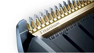 Cuchillas autoafilables de titanio para una duración extra