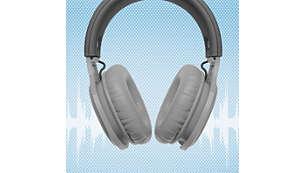 Mergulhe nos ritmos com as almofadas isolantes over-ear