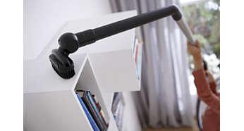 Das Easy Reach Tool ermöglicht das leichte Reinigen von schwer erreichbaren Stellen.