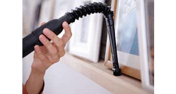 Lange Bürste, ideal für das Reinigen von Vorhängen