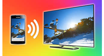 Bezprzewodowe udostępnianie treści z telefonu na ekranie telewizora Philips Smart TV