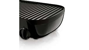 Las superficies del grill antiadherentes son fáciles de limpiar