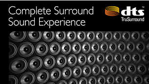 Enjoy rich sound and clear dialog with DTS TruSurround