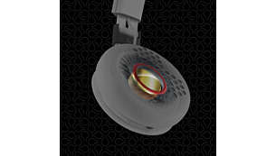 40-mm premium neodymium drivers for balanced, precise sound