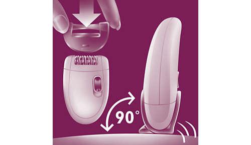 El adaptador Opti-start garantiza un contacto óptimo con la piel