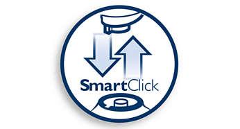 System SmartClick umożliwia łatwą wymianę nasadek