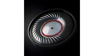 HD optimally vented 40mm neodymium speaker drivers