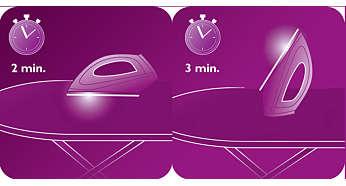 Schaltet das Bügeleisen bei längerem Stillstand automatisch ab