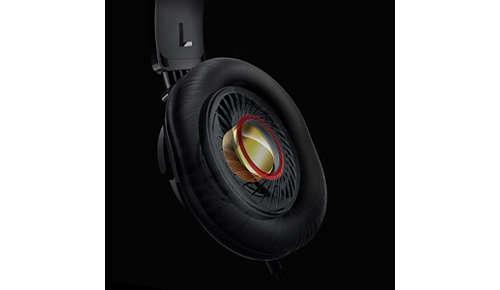 Krachtige 32 mm neodymium-luidsprekers zorgen voor helder natuurlijk geluid