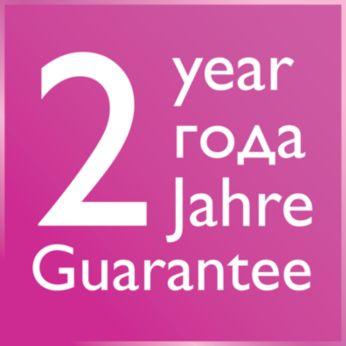 2 años de garantía mundial