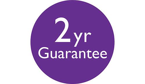 2 jaar wereldwijde garantie