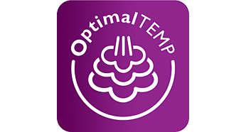 Technologie sans réglage OptimalTEMP: la combinaison idéale entre vapeur et température