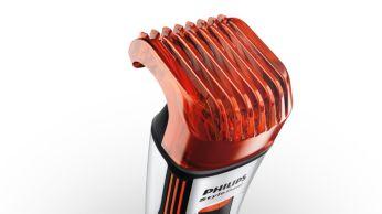 Beard & stubble trimmer: 12 length settings from 0.5-10mm