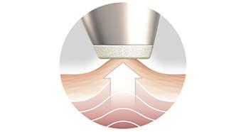 Het Air Lift-systeem stimuleert op zachte wijze microcirculatie
