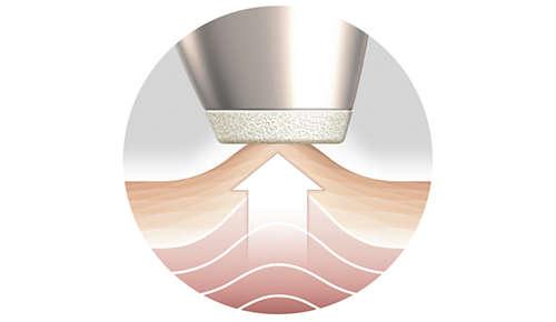 Le système d'Aspiration stimule en douceur la microcirculation