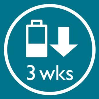 Зарядки в течение ночи хватает на три недели использования прибора