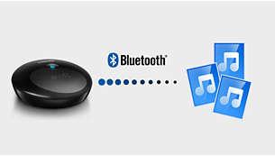 Strömma ditt lokala musikbibliotek med Bluetooth®