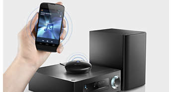 Musikkstreaming med Hi-fi-Bluetooth® (aptX® og AAC)