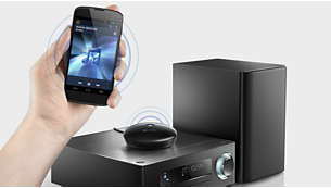 High-fidelity Bluetooth® (aptX® and AAC) music streaming
