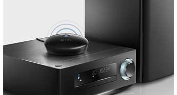 Si collega a quasi qualunque sistema di altoparlanti Hi-Fi o per computer
